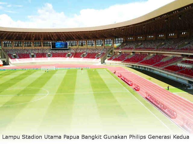Lampu Stadion Utama Papua Bangkit Gunakan Philips Generasi Kedua