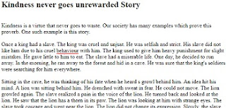 Kindness never goes unrewarded long moral story in English