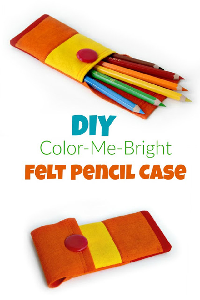 Learn how to make a fun, felt pencil case. Tutorial by Apple Green Cottage.