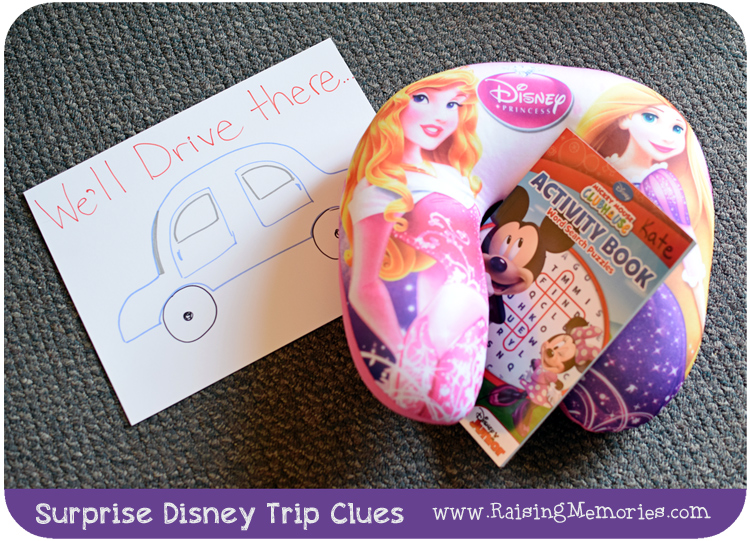 Creative Surprise Disney Trip Clues
