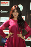 Monal Gajjar in Maroon Gown Stunning Cute Beauty at IIFA Utsavam Awards 2017 039.JPG