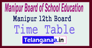 Manipur 12th Time Table 2018
