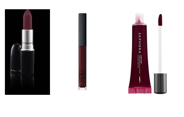 labios burgundy borgoña rojo maquillaje