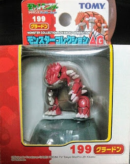Groudon figure Tomy Monster Collection AG series
