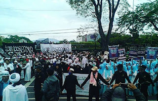 Aksi Bela Ulama di Bandung Dihadiri Sekitar 30 Ribu Umat Islam