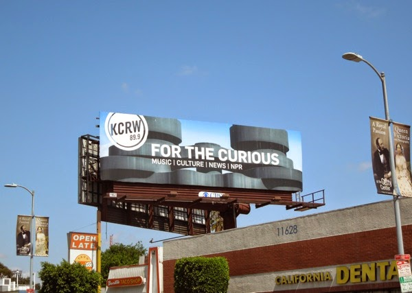 KCRW For the curious radio billboard