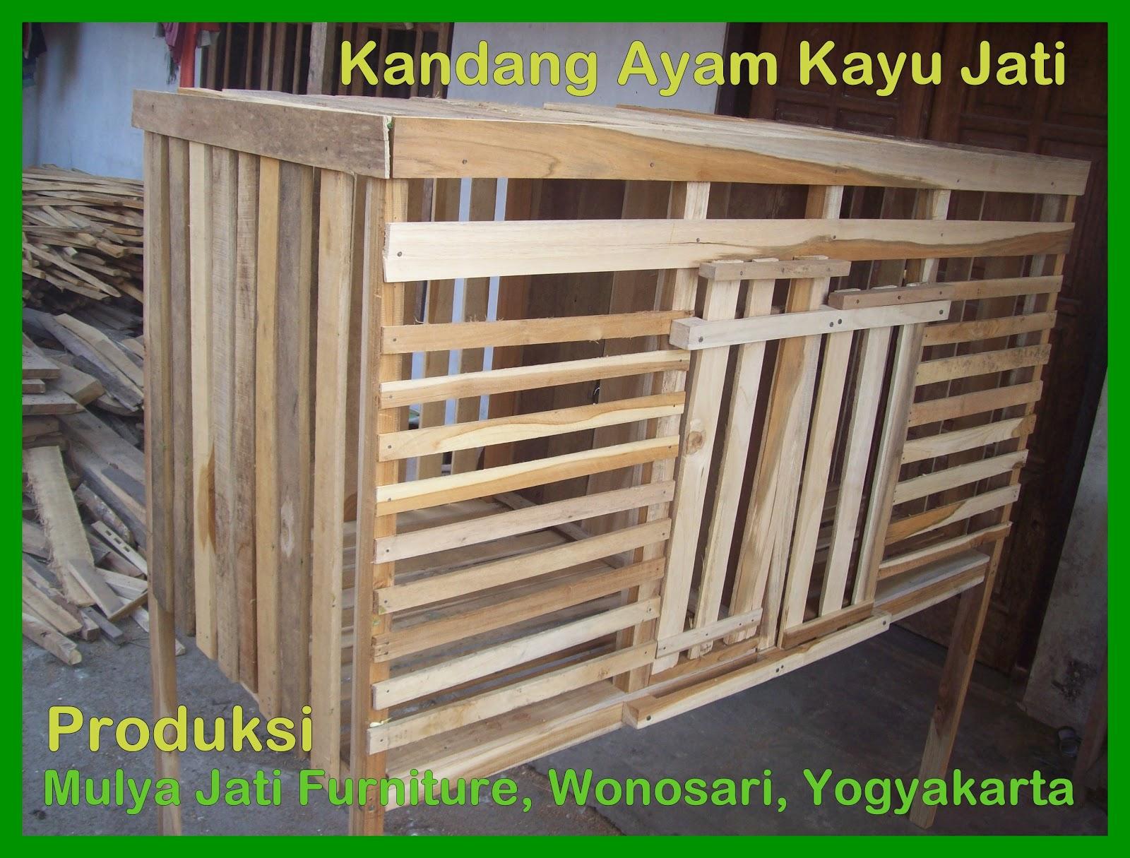 Mulya Jati Furniture Kandang Ayam Kayu Jati