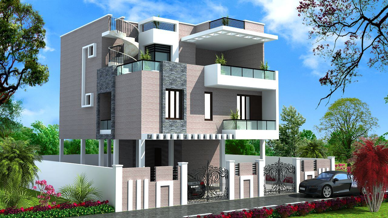 Top catalogue of house front elevation designs new update for Latest house elevation