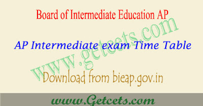 AP Intermediate time table 2019-2020, 1st & 2nd year exam dates