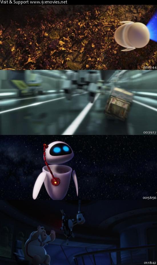 WALL-E 2008 Dual Audio Hindi 480p BluRay 300mb