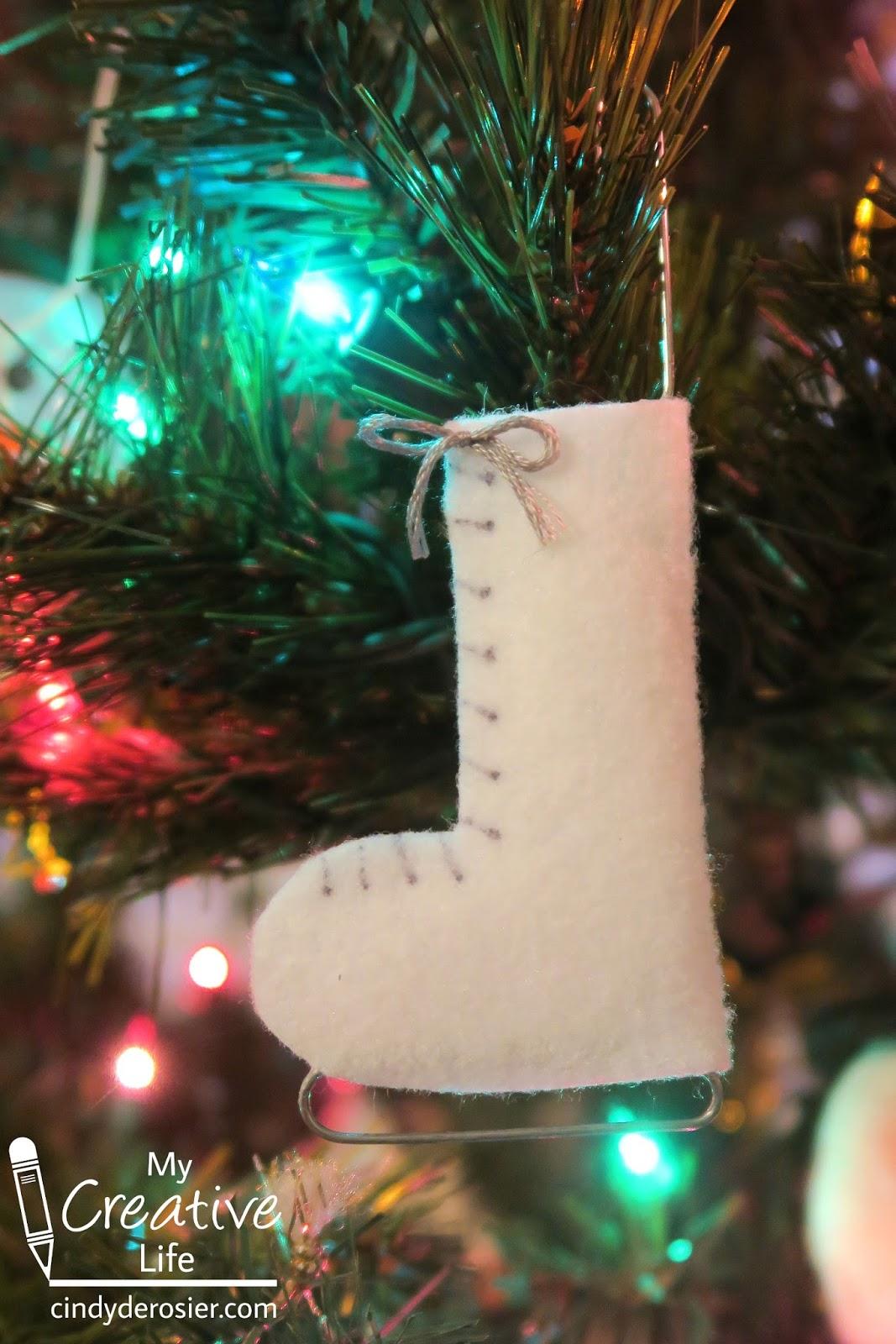 Cindy deRosier: My Creative Life: No-Sew Ice Skate Ornament