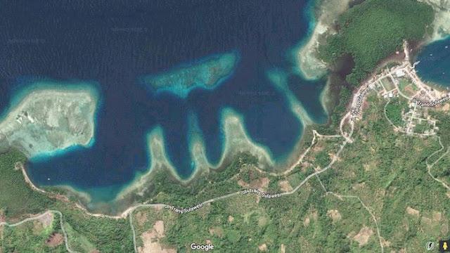 Kebesaran Allah: Garis Pantai Di Wilayah Indonesia Ini Membentuk Lafadz Allah