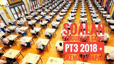 Soalan Percubaan Sains PT3 2018 + Skema Jawapan