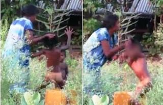 Mother arrested after video of alleged child  Assault in  Jaffna