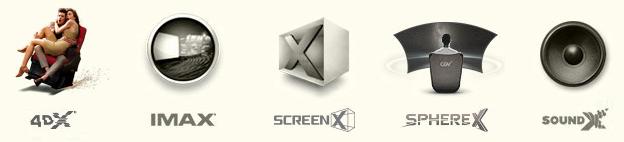 CGV 극장 영화 비교 - 4DX, IMAX, ScreenX, SphereX, SoundX