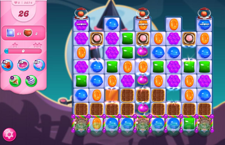 Candy Crush Saga level 5674