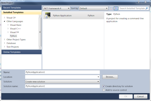 Python Application in Visual Studio