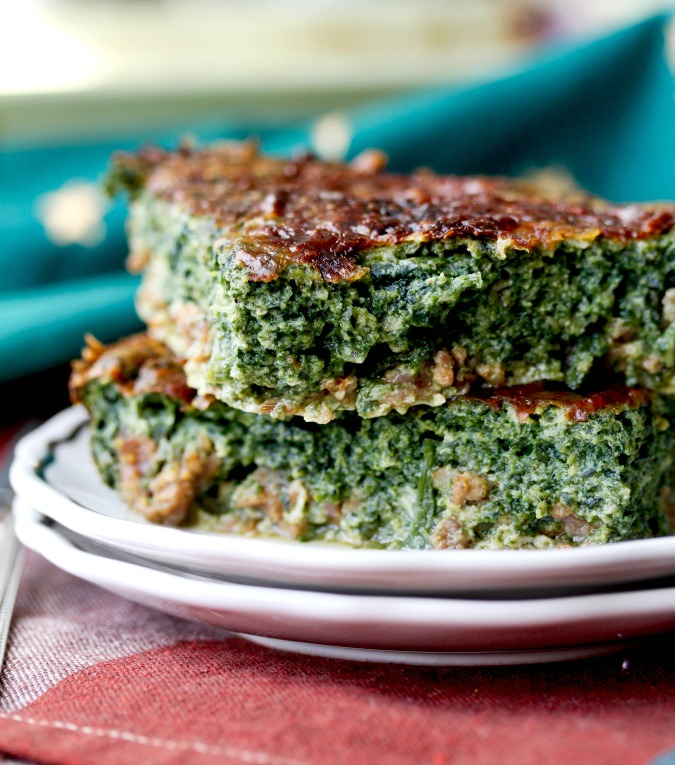 Sausage and Spinach Pie