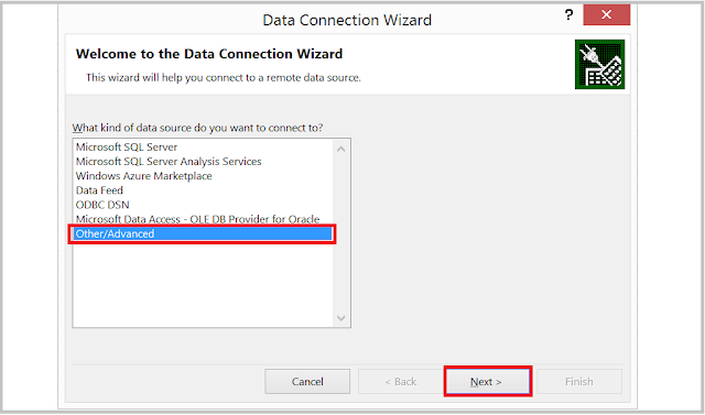 HANA Excel Data Connection Wizard