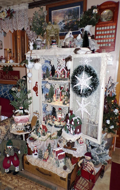 Winter China Cupboard in the Den, 2020