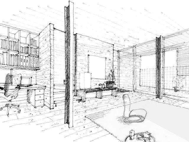 狭小都市型二世帯住宅の収納計画をとおして 子世帯 リビングのイメージ
