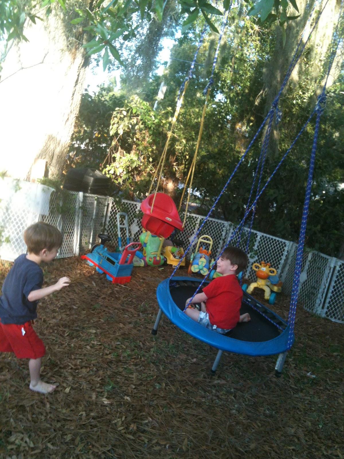 Trampo-swing, Tarzan swing & backyard play environment ...