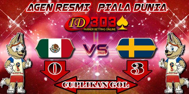 CUPLIKAN GOL MEXICO 0 - 3 SWEDEN