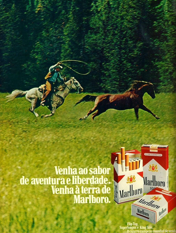 anúncio de cigarros malboro anos 70; propaganda anos 70; história decada de 70; reclame anos 70; propaganda cigarros anos 70; Brazil in the 70s; Oswaldo Hernandez; 1976.
