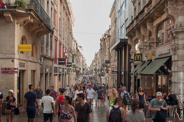 Rue St Catherine Burdeos Bordeaux viaje roadtrip Francia