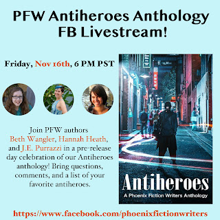 Friday, Nov 16th, 6 PM PST. Beth Wangler, Hannah Heath, and J.E. Purrazzi are doing a livestream on the PFW Facebook page.