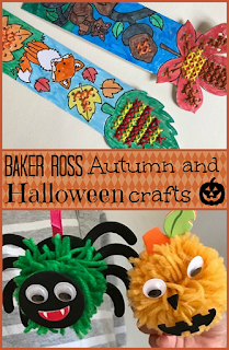 Autumn and Halloween crafts with Baker Ross