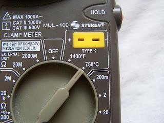 Instalaciones eléctricas residenciales - soquet del termómetro del multímetro MUL-100