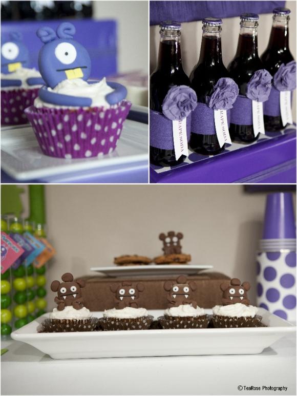 A Modern Little Monsters Birthday Party - via BirdsParty.com