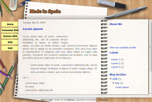 New beautiful Scribe Template for Blogger all free