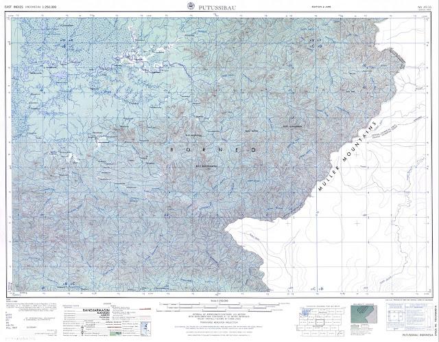 TAKJUB INDONESIA: Peta Topografi Putussibau skala 250k