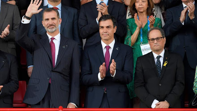 Cataluña anuncia ruptura de relaciones con rey Felipe VI