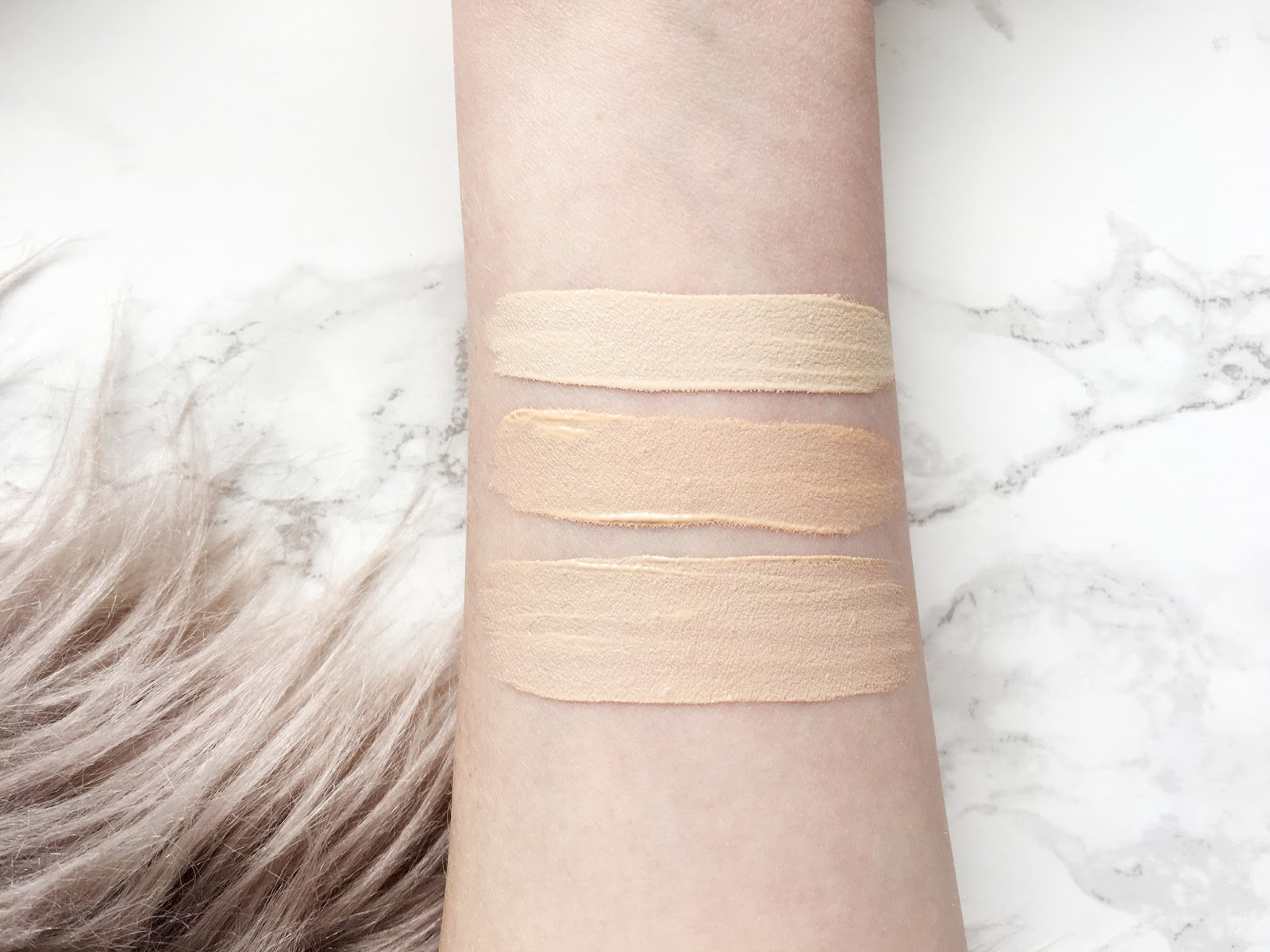My Top Three Favourite Concealer Swatches