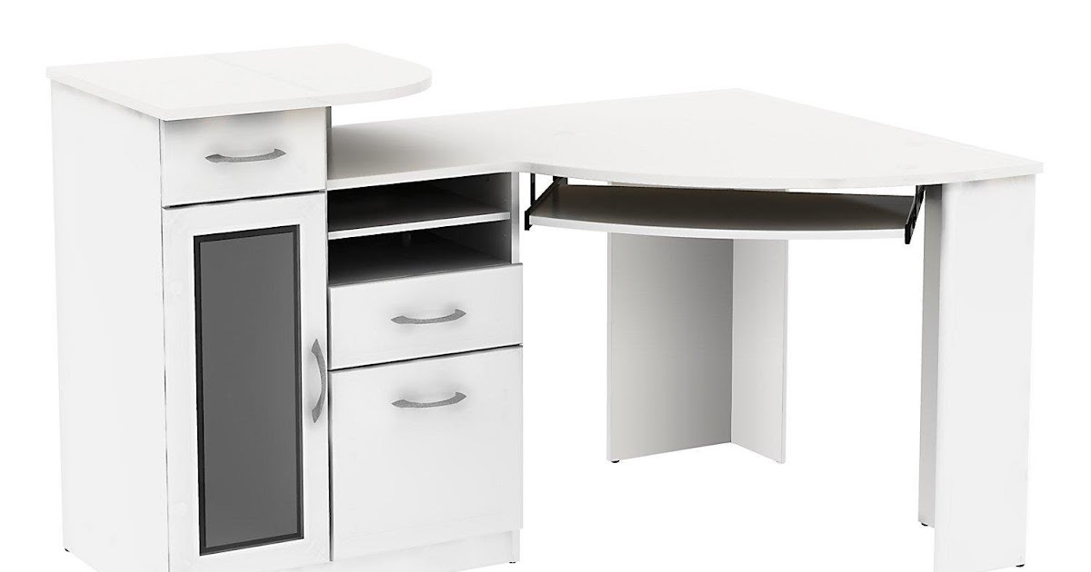 L Desk White For Your Dwelling Workplace White Corner Desk With Drawers