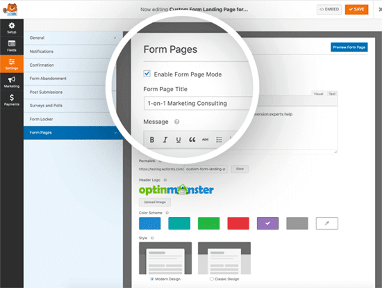 Quick and Easy Form Landing Pages in WordPress