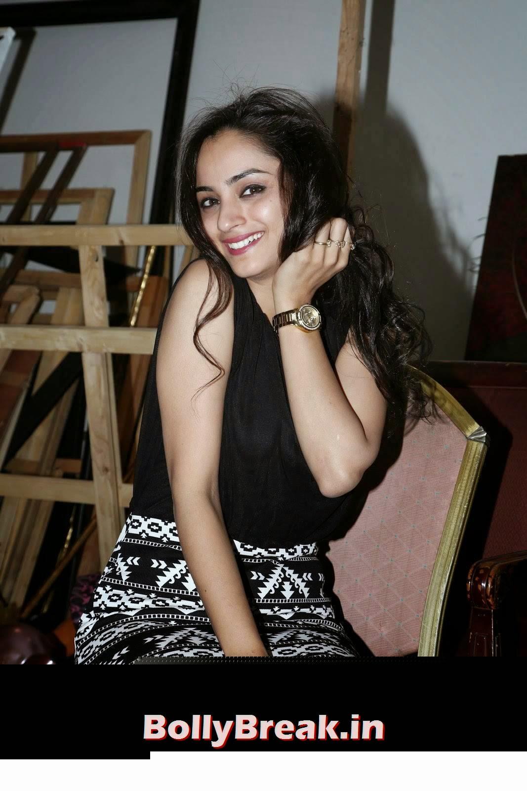 Actress Madirakshi Photoshoot Stills, Actress Madirakshi Hot Pics in Skirt & Black Top