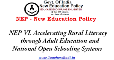 NEP,Accelerating Rural Literacy, New Education Policy