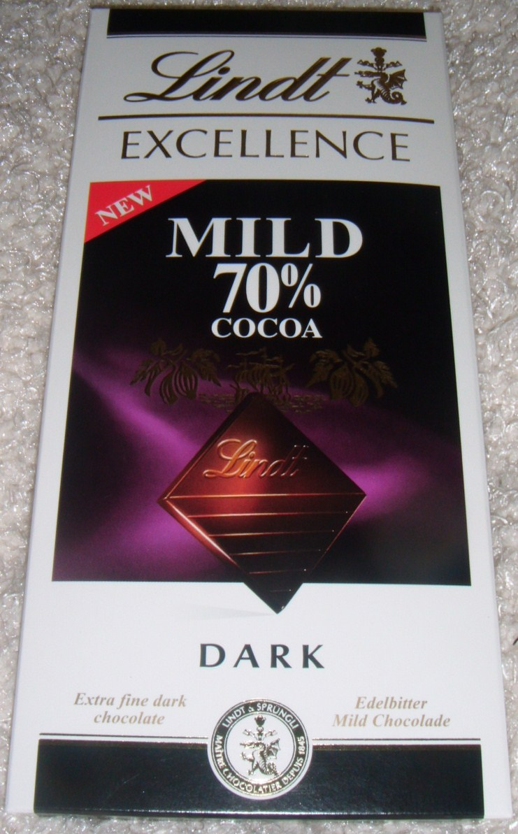 Foodstuff Finds Lindt Excellence Mild 70 Cocoa Chocolate