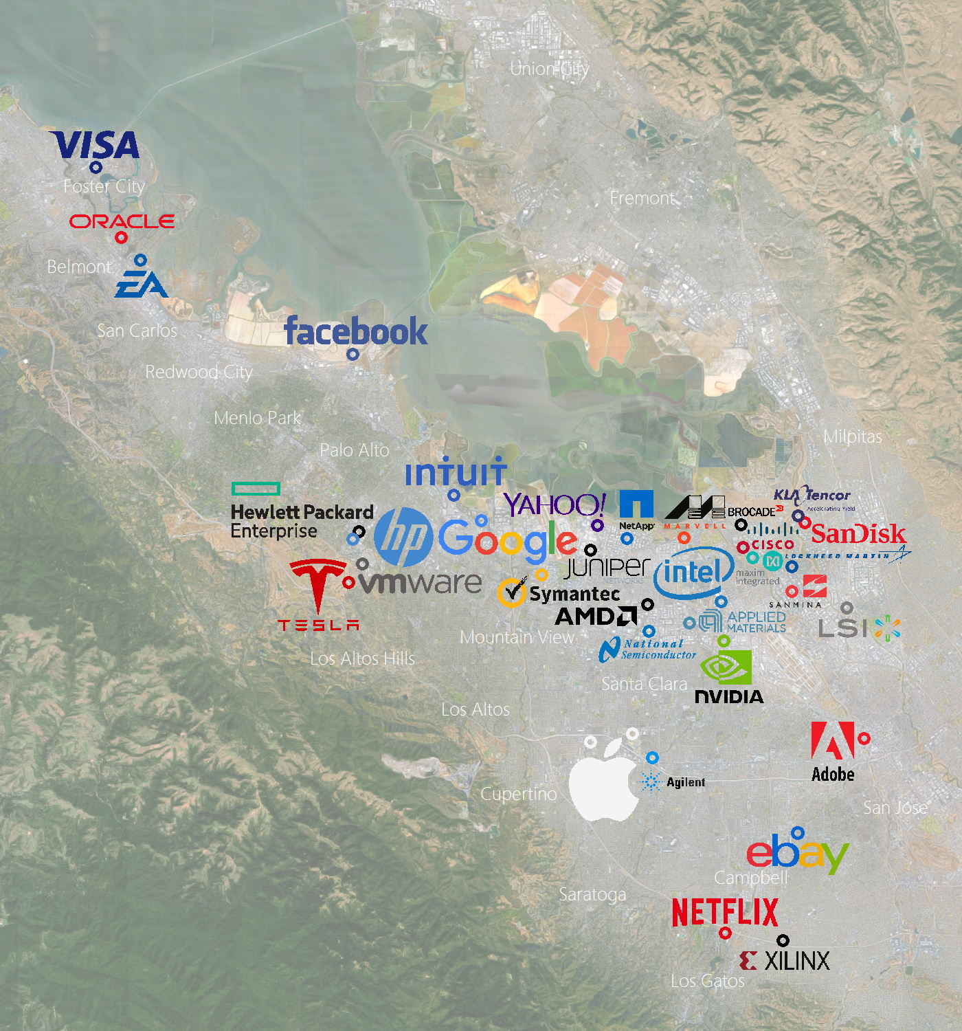 Silicon Valley's Largest High Tech Companies