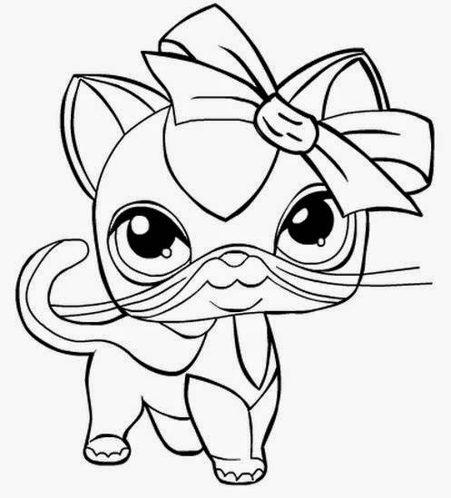 My little pet shop coloring pages coloring pages for Little pet shop coloring page