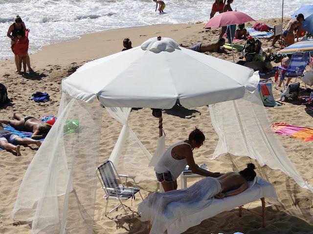 Masajes en la playa de Zahora