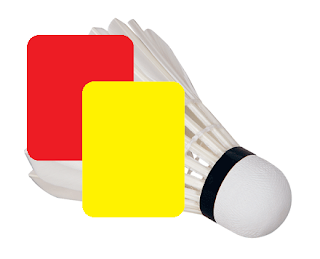 Yellow and Red cards in badminton
