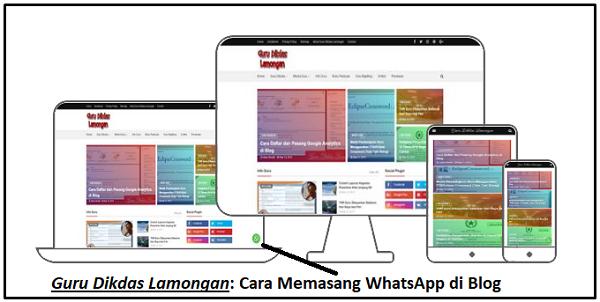Cara Memasang WhatsApp di Blog