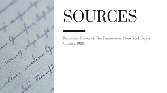 Summary of Giovanni Boccaccio's The Decameron Day 3 Story 6 Sources