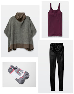 Holiday Fashion Style Outfit Ideas. Comfy Chic - Aritzia Wilfred Free Wellsh Sweater Babaton Bowie Tank Daria Pant Parklife Grandview Socks