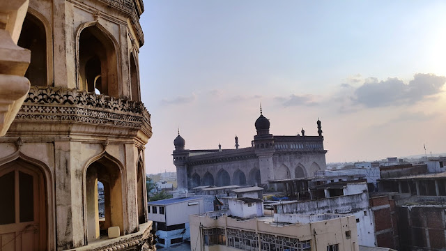 View of Mekkah Masjid from Charminar - Hyderabad India